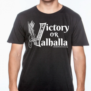 Victory or Valhalla-Black White